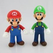 """SUPER MARIO BROS - SET 2 FIGURAS LUIGI & MARIO 12cm / 2 MARIOS & LUIGI FIGURES SPECIAL TWIN PACK 4.7"""""""