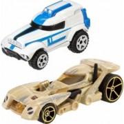 Set Masinute Mattel Hot Wheels Star Wars 501 Clone Trooper Si Battle Droid