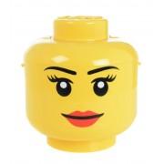 Lego - Storage Box, ragazza faccia disegno, giallo