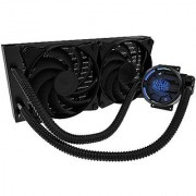 MasterLiquid Pro 240 All-In-One (AIO) Liquid Cooler with FlowOp Technology Dual Chamber Design and MasterFan Pro Radiator Fans