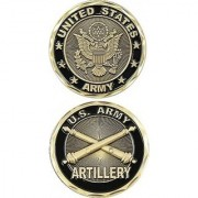 United States Military US Armed Forces Army Artillery Unit- Good Luck Double Sided Collectible Challenge Pewter Coin
