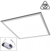 LED Paneel 60x60 cm LED Verlichting Systeemplafond Set Vierkant 45W 6400K Helder Wit 60x60cm Zilver Armatuur IP20
