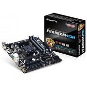 Gigabyte Mod SoFM2+ GBT F2A88XM-D3H (A88X/M-ATX, PCI Express 3.0, DDR3, Socket FM2+) Scheda Madre, Nero