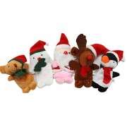 Wovte Children Kids Educational Story Christmas Santa Claus Deers Snowman Finger Puppet Doll Hand Toys Series Set Of 5