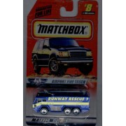 Matchbox 1998-8 of 100 Series 8 AIR Traffic Airport Fire Truck 1:64 Scale