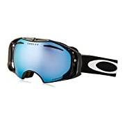 Oakley Airbrake Snow PRIZM - winter sport goggles (Cylindrical(flat) lens, Men, Black, Polycarbonate, Light blue, Red, Prizm Snow Sapphire Iridium, Prizm Rose)