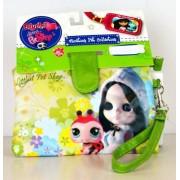 Littlest Pet Shop - Blythe Loves Littlest Pet Shop - Vacation Pet Collection - Green Wristlet Purse (accesorio de disfraz)