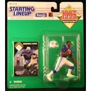 MARSHALL FAULK / INDIANAPOLIS COLTS 1995 NFL Starting Lineup Action Figure & Exclusive NFL Collector Trading Card by Starting Line Up