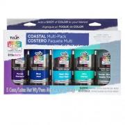 Tulip 35138 Instant Color Shots Coastal Fabric Paint (5 Pack)