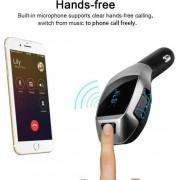 Ntech - X5 MP3 Bluetooth Adapter / Wireless Bluetooth FM Transmitter Radio Adapter Car Kit Met USB SD Card Reader en Calling Remote Control