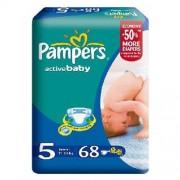 Pampers Active Baby Scutece marimea 5 pachet cu 68 bucati