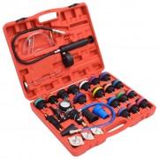 vidaXL Kit de purga em vácuo e recarga, verificador pressão do radiador