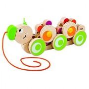 Hape - Walk-A-Long Caterpillar Wooden Pull Toy
