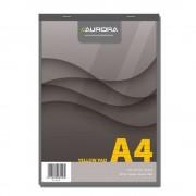 Blocnotes A4 80 file hartie galbena AURORA Office dictando