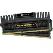 Corsair CMZ8GX3M2A1600C9 Vengeance Memoria per Desktop a Elevate Prestazioni da 8 GB (2x4 GB), DDR3, 1600 MHz, CL9, con Supporto XMP, Nero