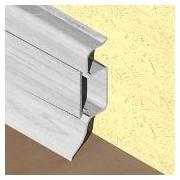 PBC505 - Plinta PROLUX din PVC culoare artar alb pentru parchet 50 mm