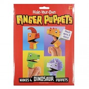 AsianHobbyCrafts Make-Your-Own Finger Puppets: Makes 4 Dinosaur Puppets