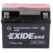 Exide YTX4L-BS 12V 3Ah motorkerékpár akkumulátor JOBB+