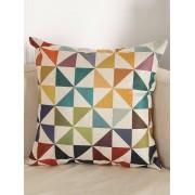 rosegal Geometry Pattern Sofa Bed Throw Linen Pillow Case