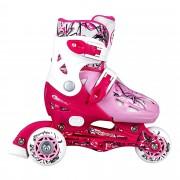 NIPPER dětské kolečkové brusle růžové 31-34 Spokey