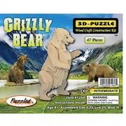 Puzzled Grizzly Bear 3D Natural Wood Puzzle by Puzzled