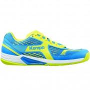 Kempa Handballschuh FLY HIGH WING - ash blau/spring gelb   46
