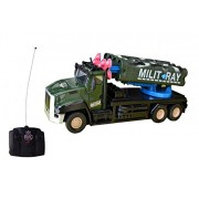 Olly Polly kids high quality imported Super Truck Military Blastic TWO Missile War Tank Remote Control Toy With Light And Sound-gift toy