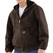 Carhartt Sandstone Active Jacket - Washed Duck Factory Seconds DARK BROWN (40)