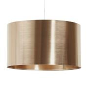 Hanglamp 'TRIKO' met koperkleurige lampenkap
