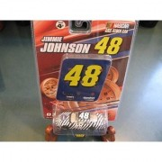 2007 Jimmie Johnson #48 Lowes Zebra Black White Stripes Test Car 1/64 Scale with #48 Pit Board Sign Replica Winners Circle