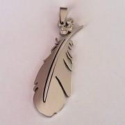.Медальон Перо изработен от Медицинска Стомана 316L (DSP9422)