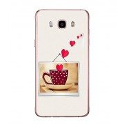 PrintVisa Heart With Coffee High Glossy Metal Designer Back Case Cover for Samsung Galaxy J7 2016 :: Samsung Galaxy J7 2016 Duos :: Samsung Galaxy J7 2016 J710F J710FN J710M J710H
