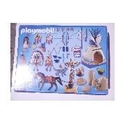 Indiántábor totemoszloppal - sérült csomagolású