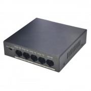 Switch 4 porturi POE Dahua PFS3005-4P-58 transmisie 250m, protectie fulgere, putere 58W (Dahua)