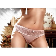 Baci Baby Pink Lace Border Microfiber G-String 818 - Small/Medium