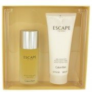 Calvin Klein Escape Eau De Toilette Spray 3.4 oz / 100.55 mL + After Shave 6.7 oz / 198.1 mL Gift Set Fragrance 461431