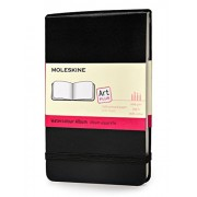 Moleskine S05602 - Cuaderno para acuarela (tamaño bolsillo), color negro