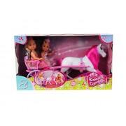 Simba Toys 105736646 - Evi Love, Romantico Calesse con 2 Bambole