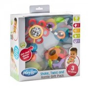 Playgro Unisex Norway Assort First toys and baby toys White Shake Twist And Rattle Gift Pack