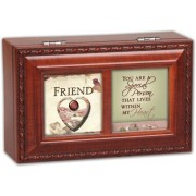 Cottage Garden Friend Woodgrain Petite Music Box / Jewelry Box Plays That�S What Friends Are For