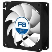 ARCTIC F8 - 80 mm Standard Low Noise Case Fan - Black/silver - Fluid Dynamic Bearing - Innovative Design
