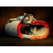 CAT-ON Designový škrábací nábytek pro kočky La Vague   019b Asia white flowers on tinted beige