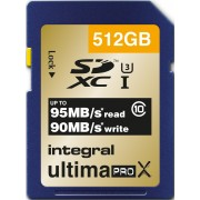 INTEGRAL Cartão SDXC Ultima ProX 512GB (95/90MB/s) (Class 10)