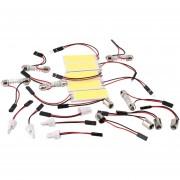 EH T10 BA9S 36 LED Bombilla panel auto del adorno intEHior de la bóveda LED lámpara de luz blanca