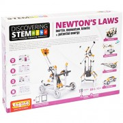 Engino Discovering Stem Newton's Laws Inertia, Momentum, Kinetic and Potential Energy Building Kit, Multi Color