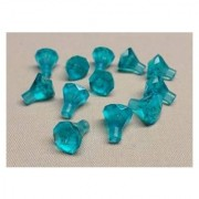 Deal Of The Day!!! Do Not Miss Out!X12 New Lego Rock 1 X 1 Jewel Treasure Gem 24 Facet Trans Light Blue