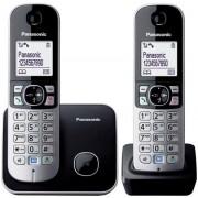 Telefon Fix Twin Panasonic KX-TG6812FXB (Negru/Argintiu)