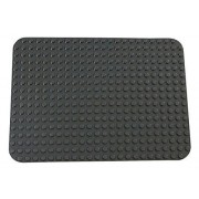 "Premium Dark Gray Base Plate 15"" X 10.5"" Baseplate (Lego Duplo Compatible)"