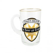 """Gold Beer Stein Small Dads Beer"""