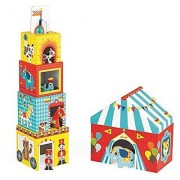 Janod MultiKub Circus Stacker with Figures